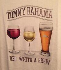 NEW TOMMY BAHAMA Relax SHIRT RED WHITE BREW BLUE USA MENS T SHIRT TEE SMALL S