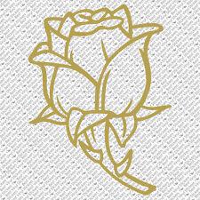 ROSE TRIBAL GARDEN FLOWER DECORATION CAR WALL TILE VINYL DECAL STICKER (R-01)
