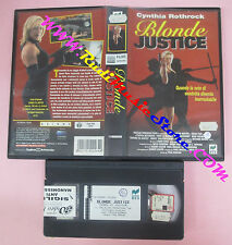 VHS film BLONDE JUSTICE 1997 Cynthia Rothrock Paul Maslak RCS 22264 (F120)no dvd
