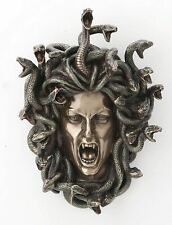 Head of Medusa Wall Plaque Statue Collectible Gothic Myth Legend Snakes