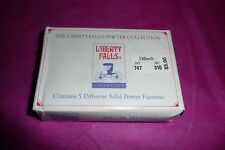 Vintage The Liberty Falls Pewter Collection Ah109 5 figurines with box 1996