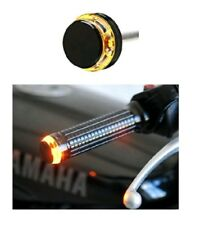 Bike Motorcycle Handle Bar End Turn Signal Indicator Amber Light 360 View >
