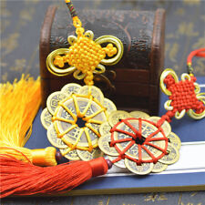 Handwork Feng Shui Copper Pendant Copper Cash Chinese Knot Pendant Craft Gift