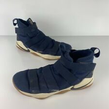 Nike Mens LeBron Soldier 11 Cav Basketball Shoes Blue 897644-402 Fabric Mid Top