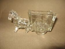 Vintage Horse and Cart Glass Figure Decoration