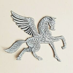 Pegasus Horse Mythical Animal Handmade Sew-On Embroidered Patch