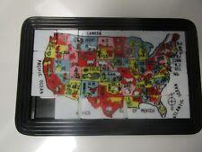 Vintage Slide Puzzle Toy - United States USA Map