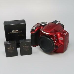 Nikon D3200 24.2 MP Digital SLR Camera - Red (Body Only) - Read Description