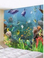 Sea World Fish Print Tapestry Wall Hanging Art Decorative Home Wall Art Tapestry