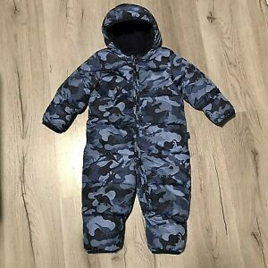 Baby Gap Hooded All In One Dinosaur Snow Suit Navy Blue Boys 12-18 Month