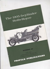 The 1905 3-CYLINDER ROLLS-ROYCE by Oliver 1967 Profile Publications 12p Booklet