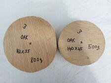 Two English Oak Woodturning Bowl Blanks / Ready To Turn / ( 3 )