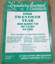 Lapidary Journal Gem Cutting April 66 Annual Issue Reeves Star Ruby Iris Agate