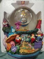 "Disney Alice in Wonderland Drink Me Snow Globe ""All in the Golden Afternoon"" New"