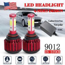 4side 360° 9012 Led Headlight Bulb Kit High Low Beam Bulb Cambus 16000Lm 6500K(Fits: Cadillac)