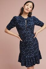 Donna Morgan Ruched-Sleeve Velvet Dress Size 2 Fits 0 $188 NWT Wedding