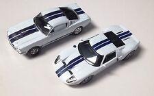 LOT DE 2 voitures américaines SHELBY 350GT + FORD GT 40 - 1/43 MODEL DISCAST L2