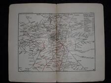 VINTAGE PHILIPS LONDON CITY MAP c1895-Mappa ferroviaria di Londra, rete ferroviaria