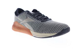 Reebok Nano 9 DV6359 Mens Black Canvas Low Top Athletic Cross Training Shoes 7.5