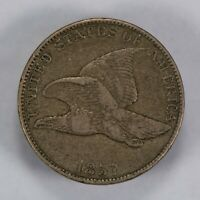 1857 1c FLYING EAGLE SMALL CENT, XF COIN LOT#T649
