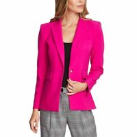 VINCE CAMUTO NEW Women's Pink Shock Notch-collar Lined Blazer Jacket Top 6 TEDO