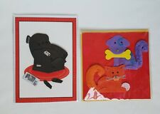 New Paper Magic Birthday Cards Cat, Dog, Recliner Lot Of 2