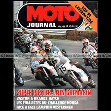 MOTO JOURNAL N°336 YAMAHA BOP PUCH FRIGERIO LAVERDA 1200 YRJO VESTERINEN '77