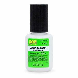 ZAP-A-Gap PT100 CA+ Brush-On 1/4oz Glue Medium 5525638