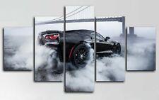 Chevrolet Corvette Burnout Car 5 Pieces Canvas Wall Art Poster Print Home Decor