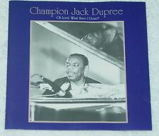 Champion Jack Dupree Oh Lord, What Have I Done CD Chrisly 300007 Czech
