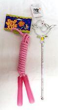 Lot of 2 Princess Gem Dress Up Play Magic Wand Pink 7' Jump Rope Girls Toys New