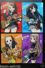 K-On! Manga 1~4 Complete Set Kakifly Keion 2008 Japan