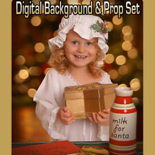 CHRISTMAS DIGITAL BACKGROUND BACKDROP & DIGITAL PROP FOR PHOTOSHOP-MILK COOKIES