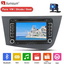 """2 Din 7"""" Radio de Para Seat Leon 2 MK2Leon 2005-2011 GPS RDS DVD BT SWC ES"""