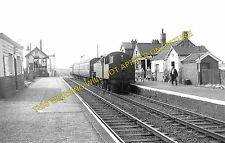 Banks Railway Station Photo. Crossens - Hundred End. Southport to Preston. (2)