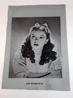 Vintage Photo Judy Garland MGM Metal Tin Transfer Studio Numbered Rare