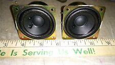 "5YY70 ALTEC LANSING SPEAKERS, 006-01: 6 OHM, 2"" NOMINAL, #3H21A, 4.2 OZ EA, VGC"