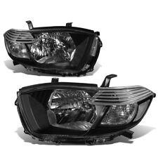 Black 2008-2010 Toyota Highalnder Sport SR5 Clear Corner Headlights Clear Lens