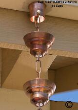 Monarch Pure Copper Tranquility Link Rain Chain, 8-1/2-Feet