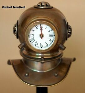 Vintage Antique Diving Divers Clock with Antique Finish Collectable Home Decor