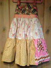 Matilda Jane PLATINUM Tiered Floral Knot Dress 6 Girls NWOT Polka Dots Art Fair