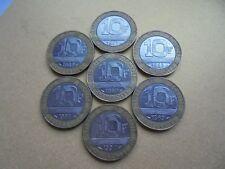 Collection de 7 - 10 franc bi-métallique pièces de France. (3 Lots)