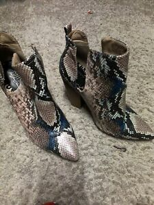 Snakeskin Booties 10