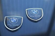 1pair BMW Car emblem Side Window Fender Badge Decal Stickers for X3 X5 X7 M3 M5