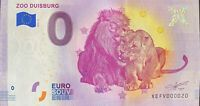 BILLET 0  EURO ZOO DUISBURG 8 ALLEMAGNE   2019 NUMERO 020