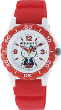 Hello Kitty Wrist Watch Waterproof Red VQ75-232 ❤ CITIZEN Q&Q Japan Sanrio