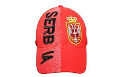 82976463810 SERBIA Red Country Flag EMBOSSED HAT CAP .. New