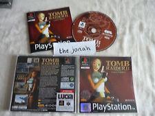 Tomb Raider 2 PS1 (COMPLETE) black label action Sony PlayStation Lara Croft