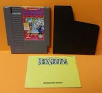 Trick Shooting  - Nintendo NES Game, Manual, Dust Cover, Rare Tested Auth