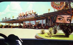 Steve ROSENDALE 'South of the Border' signed print  AMERICAN MID CENTURY CINEMA